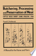 Butchering Processing And Preservation Of Meat PDF