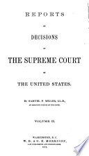 Reports of Decisions in the Supreme Court of the United States Book PDF