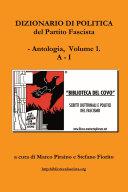Dizionario di politica del Partito Fascista - Vol. 1