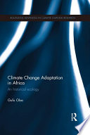 Climate Change Adaptation In Africa Book PDF