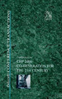 Conference on CHP 2000  Co generation for the 21st Century