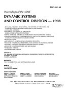 Proceedings of the ASME Dynamic Systems and Control Division
