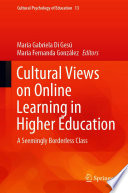 Cultural views on online learning in higher education