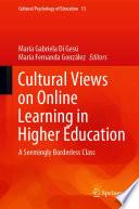Öffnen Sie das Medium Cultural views on online learning in higher education von Di Gesú, María Gabriela [Herausgeber] im Bibliothekskatalog