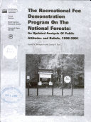 The Recreational Fee Demonstration Program on the National Forests