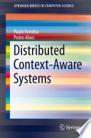 Distributed Context Aware Systems Book