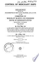 Control of Merchant Ships