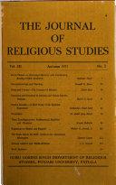 Journal of Religious Studies ebook