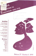 English Literature in Transition  1880 1920