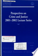 Perspectives on Crime and Justice