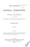 The History of General Literature