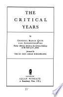 The Critical Years