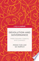Devolution and Governance
