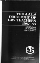 Directory Of Law Teachers