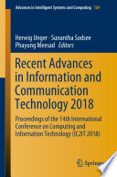 Recent Advances in Information and Communication Technology 2018 Book