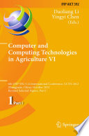 Computer And Computing Technologies In Agriculture Vi Book PDF