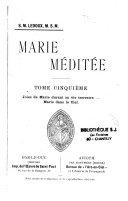 Marie méditée