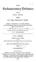 The Parliamentary Debates: v. 1-41, Nov. 1803 ebook