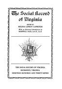 The Social Record of Virginia