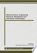 Material Science Engineering Research Management And Information Technologies Book PDF