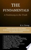 """The Fundamentals"" by Torrey, R.A., Delmarva Publications, Inc."