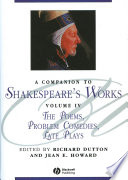 A Companion To Shakespeare S Works Volumr Iv