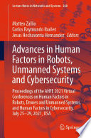 Advances in Human Factors in Robots  Unmanned Systems and Cybersecurity Book