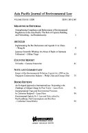 Asia Pacific Journal of Environmental Law