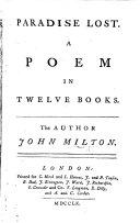 Paradise Lost. A poem, etc. (The Life of Milton [by Thomas Newton].) [With engraved plates.].