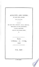 Accounts And Papers Of The House Of Commons Book PDF
