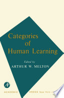 Categories of Human Learning Book