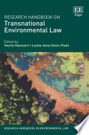 Research Handbook on Transnational Environmental Law