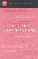 Cover of Case Study Research Methods