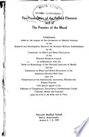 The Preservation of the Formed Elements and of the Proteins of the Blood Book