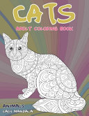 Adult Coloring Book Easy Mandala   Animals   Cats