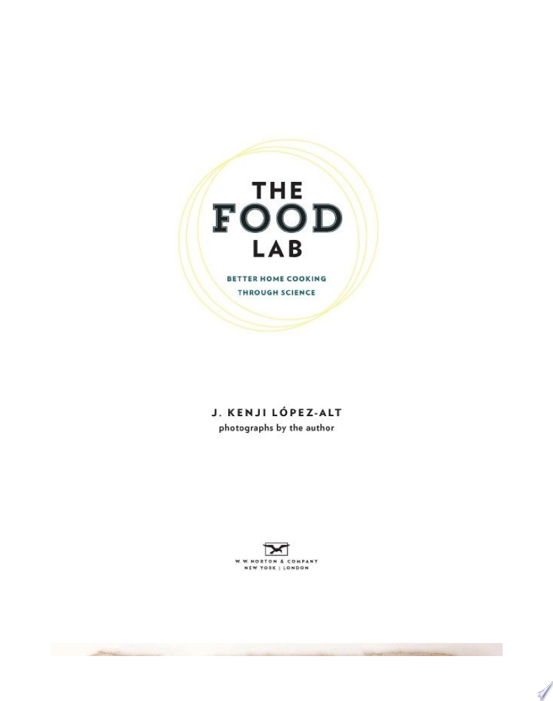 The Food Lab: Better Home Cooking Through Science image