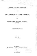 Report and Transactions   The Devonshire Association for the Advancement of Science  Literature and Art
