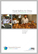 Food Safety In China   A Briefing for Responsible Investors