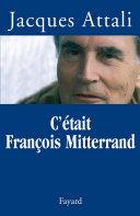 Pdf C'était François Mitterrand Telecharger