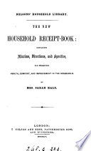 The New Household Receipt Book Book
