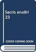 Sacris Erudiri 23