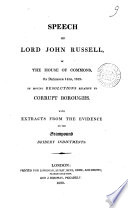 Speech of Lord John Russell, in the House of Commons, on December 14th, 1819