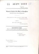 Records   Briefs New York State Appellate DIvision Book