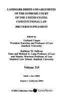 Landmark Briefs And Arguments Of The Supreme Court Of The United States [Pdf/ePub] eBook