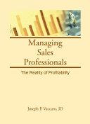 Managing Sales Professionals
