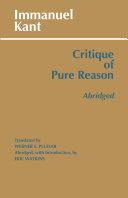 Critique of Pure Reason, Abridged Pdf