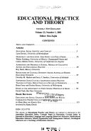 Educational Practice and Theory