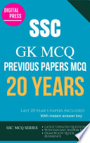 SSC GK GENERAL AWARENESS SSC MULTIPLE CHOICE QUESTIONS YEARWISE