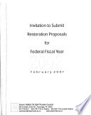 Invitation to Submit Restoration Proposals for Federal Fiscal Year 2002