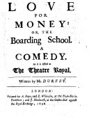 Love for Money, Or, The Boarding School